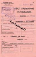 75 PARIS SEINE 1945 Group. D'Achat Et Répartition Des Viandes De La Seine Dépôt D'inscription Charcuterie HOUGUENADE - France
