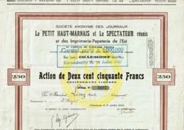 52-JOURNAUX LE PETIT HAUT-MARNAIS ...Voir Texte,  CHAUMONT - Acciones & Títulos