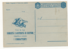 Franchigia Militare Con La Tua Sobrieta' Fascio Stretto - 1900-44 Vittorio Emanuele III