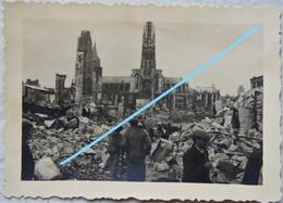 Photo ROUEN 1940 Bombardement Ruines Guerre Bataille De France - Guerre, Militaire
