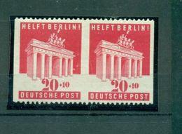 Bizone, Brandenburger Tor, Nr. 102 U S Paar Postfrisch ** - Zone Anglo-Américaine