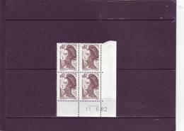 N° 2183 - 0,40 LIBERTE - 5° Tirage Du 3.6 Au 16.6.82 - 11.06.1982 - - 1980-1989