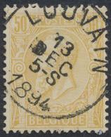 "émission 1884 - N°50 Obl Simple Cercle ""Louvain"". TB - 1884-1891 Leopold II"