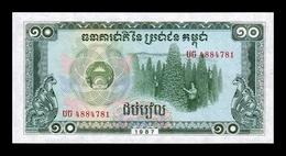 Camboya Cambodia 10 Riels 1987 Pick 34 SC UNC - Cambodia