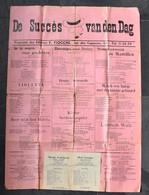 Affiche-Les Chansons De Nos Soldats - Succes Van Den Dagen- Ed. Fiocchi, Bruxelles - Vers 1914-1918 - Format 70x50 Cm - 1914-18