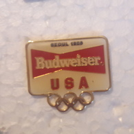 PINS BIERE BUDWEISER USA OLYMPIQUE - Beer