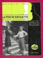Musique. Catalogue Illustré Des Disques  LA VOIX DE SON MAITRE  1933. - Other