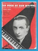 Musique. Catalogue Illustré Des Disques  LA VOIX DE SON MAITRE  1933. - Música & Instrumentos