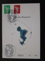 Carte Maximum Card Carte Map Geographie Mayotte 2001 - Brieven En Documenten