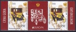 Montenegro 2013 Europa CEPT Postal Vehicles Middle Row MNH - 2013