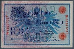 Pick 33a Ro 33b DEU-31b 100 Mark 1908 UNC ! - [ 2] 1871-1918 : German Empire