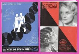 Musique.  Catalogue Illustré Des Disques  LA VOIX DE SON MAITRE  1934. - Música & Instrumentos