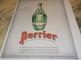 ANCIENNE PUBLICITE VISITEZ LA SOURCE  PERRIER  1931 - Perrier