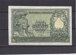ITALIE 50 LIRES - [ 2] 1946-… : République