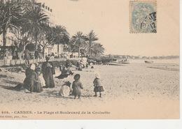 20 / 5 / 83. -   CANNES  ( 06 ). LA  PLAGE  ET  BOULEVARD  DE  LA  CROISETTE  - ANIMÉE  - CPA - Cannes