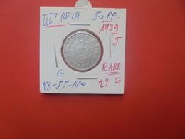 3eme REICH 50 REICHSPFENNIG 1939 J (A.10) - 50 Reichspfennig