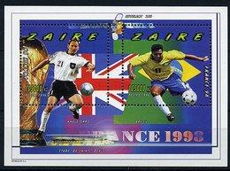"""Zaïre ** Bloc N° 53 - """"France 98"""" Coupe Du Monde De Foot - Zaire"""