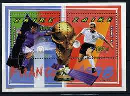 """( Lot 1) Zaïre ** Bloc - """"France 98"""" Coupe Du Monde De Foot - Zaïre"""