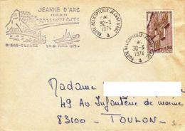 FRANCE-MADAGASCAR - 1974 - PORTE-HELICOPTERES JEANNE D'ARC - DIEGO SUAREZ - France