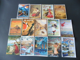 LOT   DE  14   CARTES   POSTALES   NEUVES   D AFFICHES - 5 - 99 Cartes