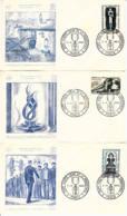FRANCE - 1969 - Lot De 3 FDC - HAUTS LIEUX De La RESISTANCE - 1960-1969
