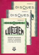 Musique.  Catalogue Illustré Des Disques  Lumen. - Música & Instrumentos