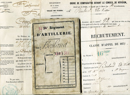 34é Régt Artillerie   Archive Besland Victor Classe 1871 - Documents