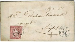 """1859, 15 Rp. """" NYON """" (SBK Fr. 180.-)  , A3726 - Lettres & Documents"""