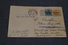 Bel Envoi Sur Carte,oblitération Militaire Allemande 1917 ,bureau Postal N° 1 ,collection - Guerre 14-18