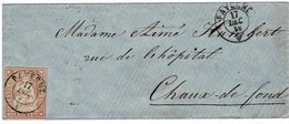 """1858, 15 Rp. """" PAYERNE """" (Fr. 180.-)   , A3727 - Lettres & Documents"""