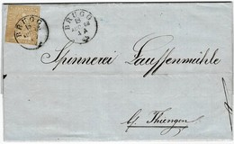 1862, 20 Rp. Grenzverkehr 2. Stufe, Foto-Attest!  , A3728 - Lettres & Documents