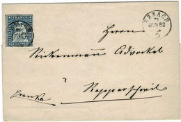 """1862, 10 Rp. """" UZNACH """" , A3730 - Lettres & Documents"""