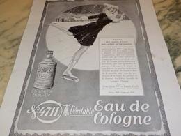 ANCIENNE PUBLICITE SPORT D HIVER  EAU DE COLOGNE 4711 1931 - Parfums & Beauté