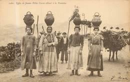 AJACCIO  Types De Jeunes Filles Allant A La Fontaine ( J.moretti ) - Ajaccio