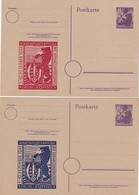ALLEMAGNE ZONE SOVIETIQUE    ENTIER POSTAL/GANZSACHE/POSTAL STATIONARY LOT DE 2 CARTES - Soviet Zone
