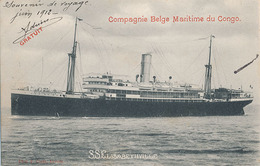 COMPAGNIE BELGE MARITINE DU CONGO - S S ELISABETHVILLE - Steamers