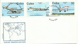 CUBA,  SOBRE  CONMEMORATIVO  AEREO  AÑO  1988 - Cartas