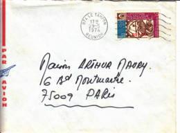 FRANCE-REUNION - 1974 - Lettre De Le Tampon Pour Paris - Réunion (1852-1975)