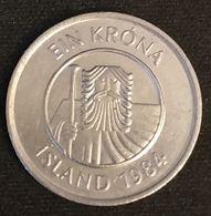 ISLANDE - ICELAND - 1 KRONA 1984 - KM 27 - ISLAND - Islande