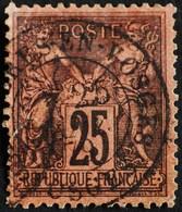 -Sage N°91  Type II.(CAD) O BRUYERES-EN-VOSGES 1879. - 1876-1898 Sage (Type II)