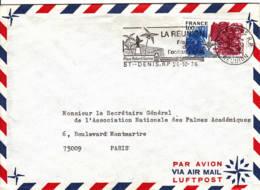FRANCE - 1976 - Lettre De St Denis (Réunion) Pour Paris - Briefe U. Dokumente