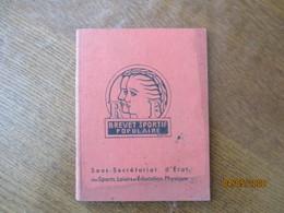 BREVET SPORTIF POPULAIRE 1938 REGLEMENT,PREFACE DE LEO LAGRANGE CONSEILS PAR LE CAPITAINE CLAYEUX 72 PAGES - Sport