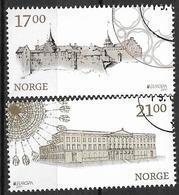 2017 Norwegen   Mi. 1938-9  Used   Europa: Burgen Und Schlösser. - 2017