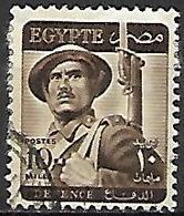 EGYPTE    -   10 Mills  .  Oblitéré.  Défence - Egypt
