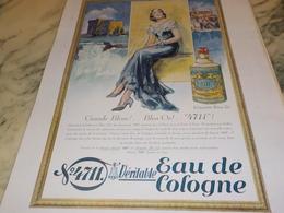 ANCIENNE PUBLICITE GRAND BLEUE EAU DE COLOGNE 4711 1931 - Perfumes & Belleza