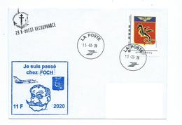 17619 - FLOTTILLE 11 F - MISSION FOCH 2020 - EMBARQUÉE SUR PA CHARLES DE GAULLE (HIPPOCAMPE) - Seepost