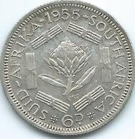 South Africa - 1955 - Elizabeth II - 6 Pence - KM48 - Zuid-Afrika