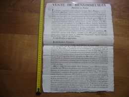 1808 Affiche Vente BIENS IMMEUBLES Drognet Notaire Cluny DONZY LE PERTUIS 2 - Affiches