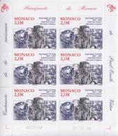 Monaco, N° 2574 (centenaire De La Naissance De PEV, Chien) Feuillet De 6 TP, Neuf ** - Monaco