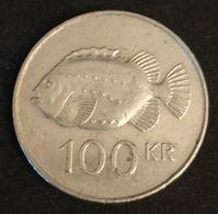 ISLANDE - ICELAND - 100 KRONUR 1995 - KM 35 - ISLAND - Poisson Lompe - Islande